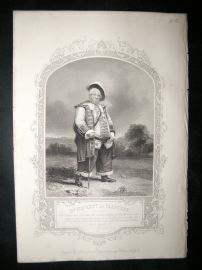 Works of Shakespere 1850 Steel Engraving. Mr Hackett As Falstoff